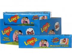 """Жевательные конфеты """"Love is"""" со вкусом Арбуз-Тропик 25гр х 12шт х 18бл / Турция/"""