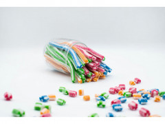 "Жев.мармелад ""Палочки короткие Top LINE"" разноцветные (4 вкуса) 1,4кг х 6 /JAKE Испания/"