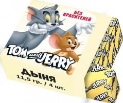 """Жевательные конфеты """"Tom and Jerry"""" со вкусом Дыни 11,5гр х 40шт / Словения/"""